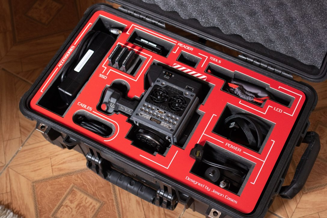 black and red toolbox containing tools